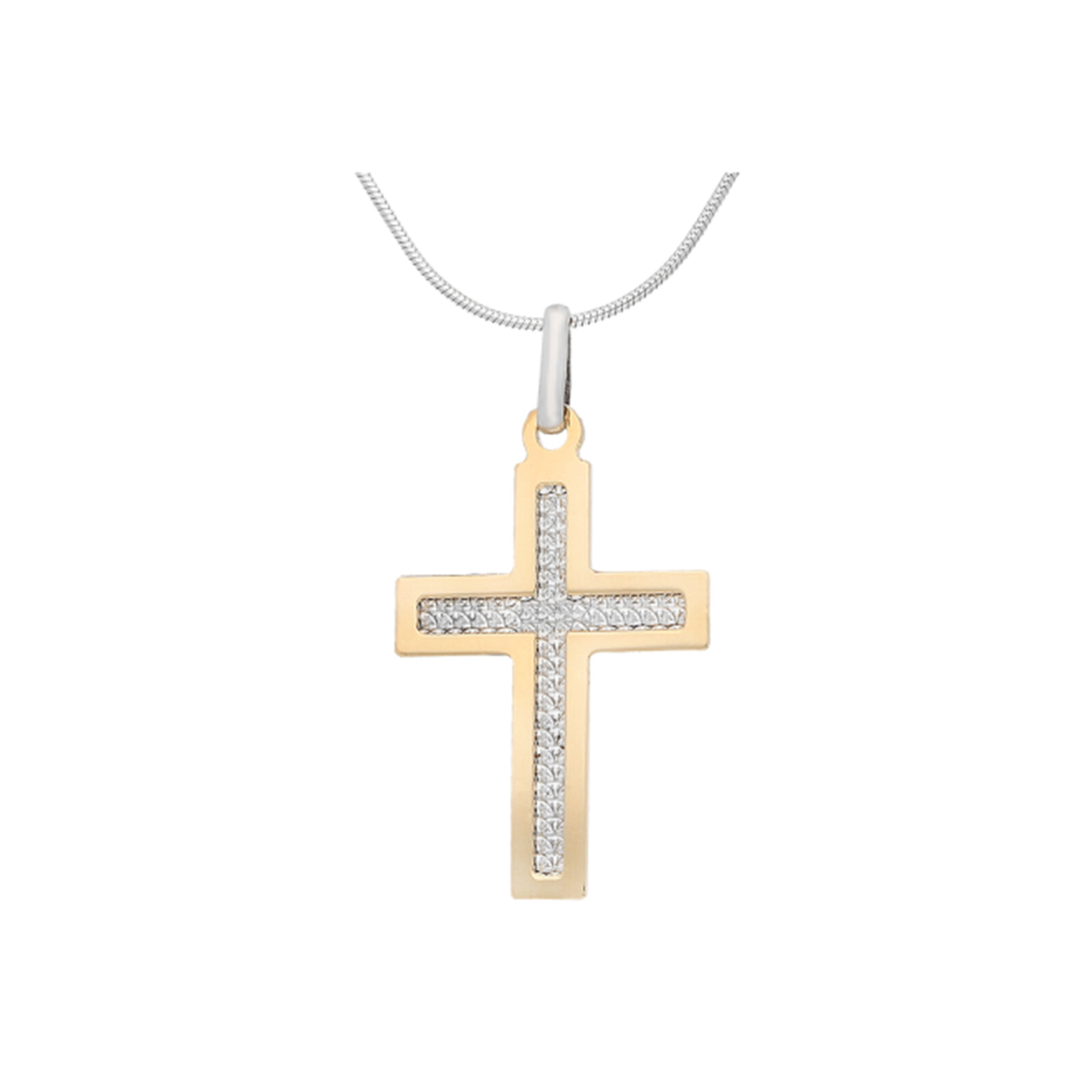 Kette  Kreuz Vergoldet