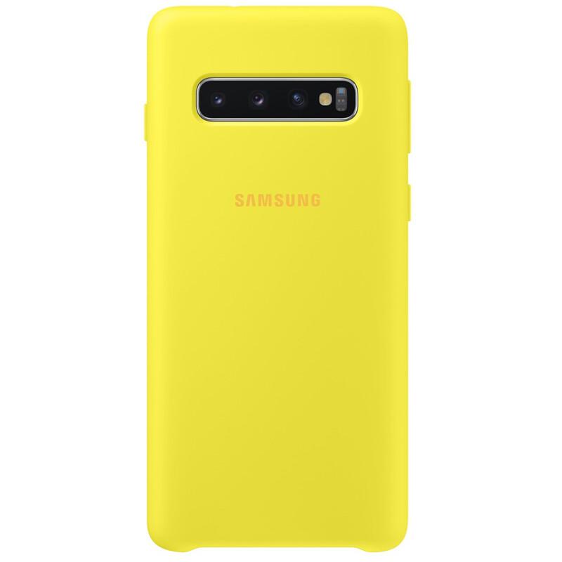Samsung Back Cover Silicone Galaxy S10 gelb