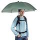 Swing handsfree Regenschirm oliv mit Tragegestell