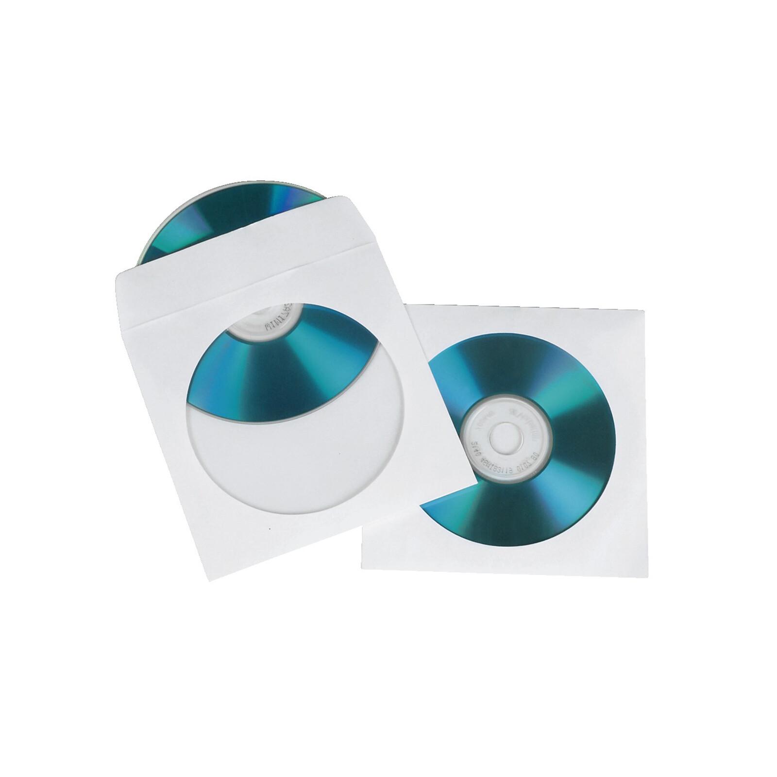 Hama 51174 CD-/DVD-Papier-Schutzhüllen, Weiß, 100er-Pack