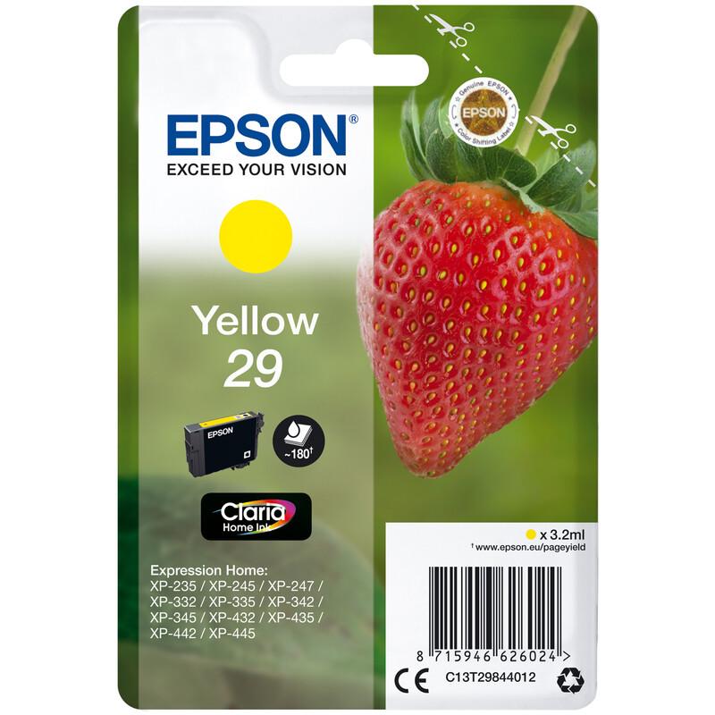 Epson 29 T2984 Tinte Yellow 3,2ml