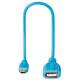 Hama 135705 Micro-USB-OTG-Adapterkabel Flexi-Slim 0,15m bla