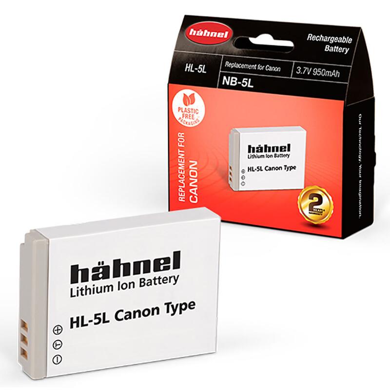 Hähnel 16072 Akku Canon NB-5L 950mAh