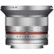 Samyang 12/2,0 APS-C Sony E silber + UV Filter