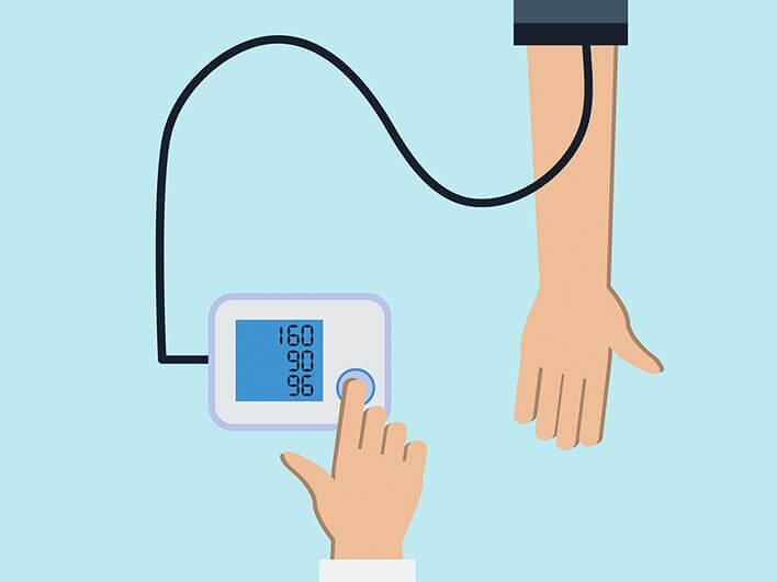 bildliche Darstellung einer Blutdruck-Messung