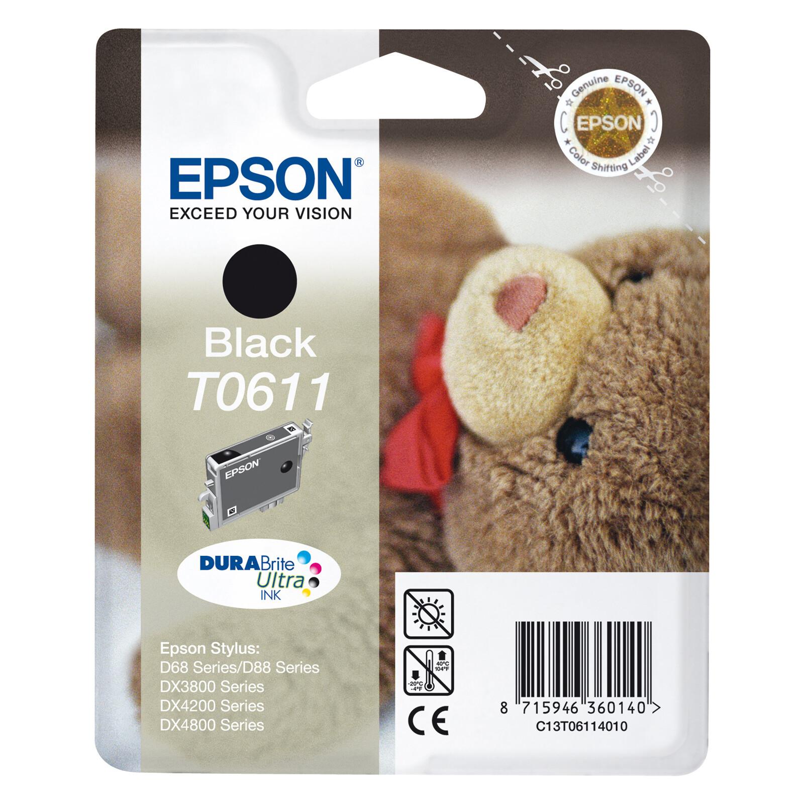 Epson T0611 Tinte Black 8ml