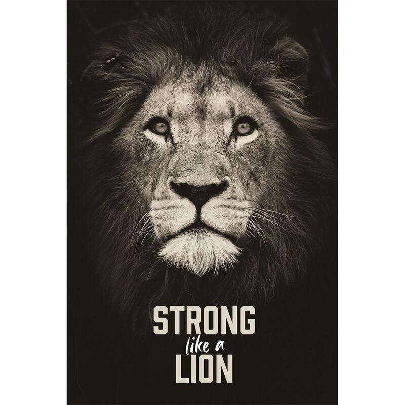 "Wandbild ""Strong like a lion"""