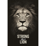 "Wandbild ""Strong like a lion"""