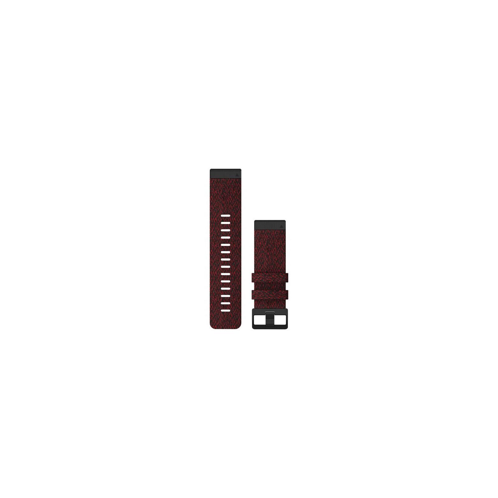 Garmin Quickfit Band 26mm Nylon rot meliert schwarz