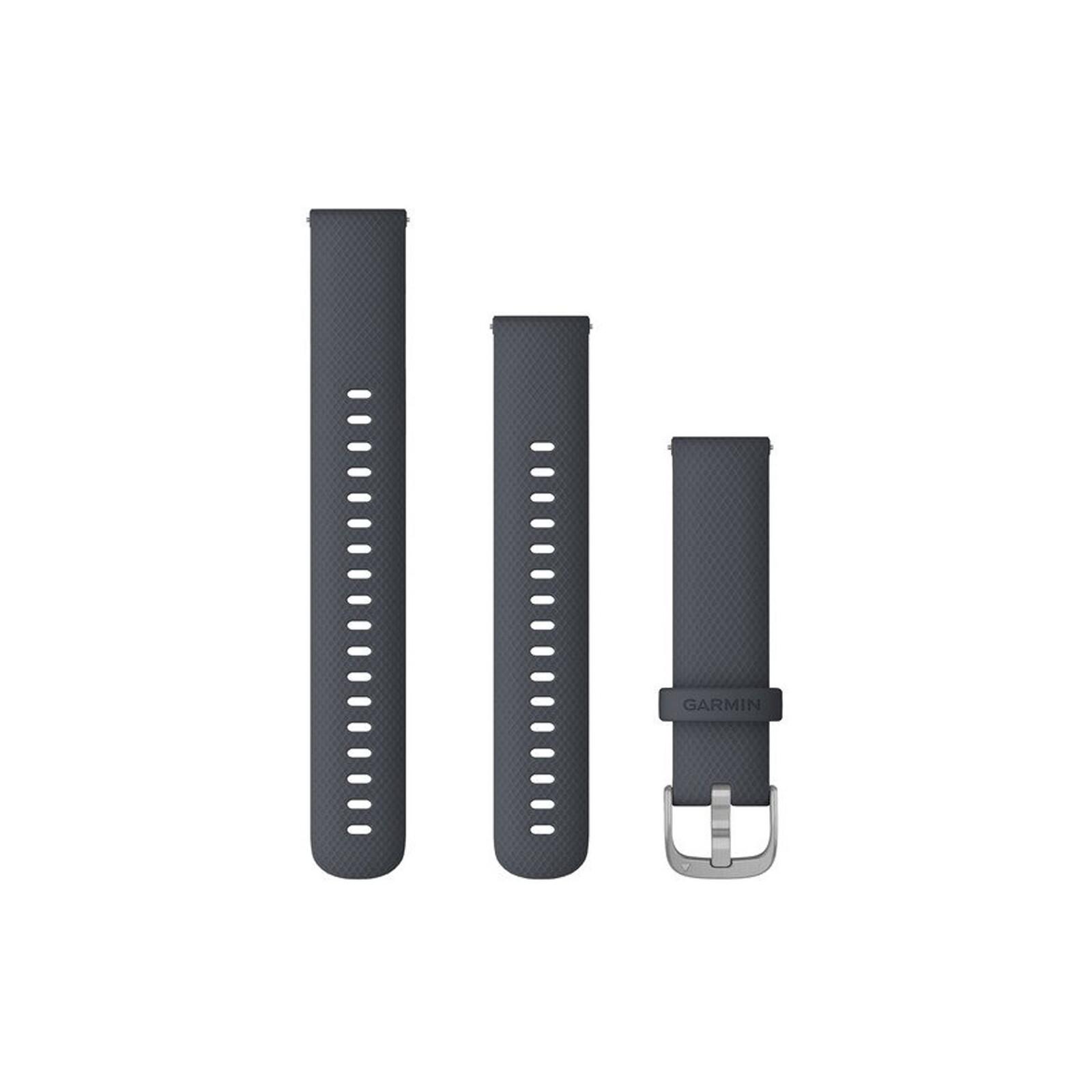 Garmin Band 18mm Silikon granitblau silber