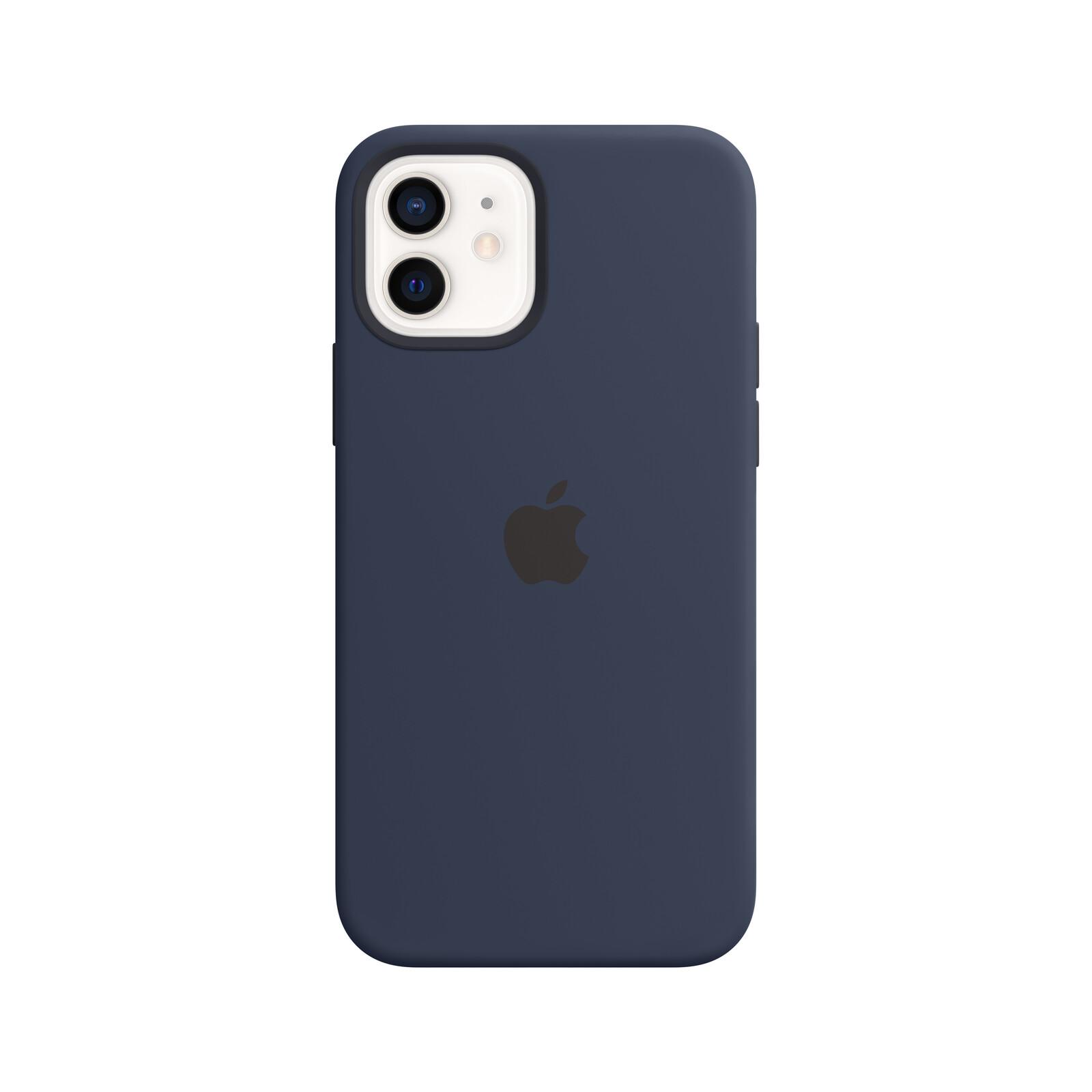 Apple iPhone 12/12 Pro Silikon Case mit MagSafe dunkelmarine