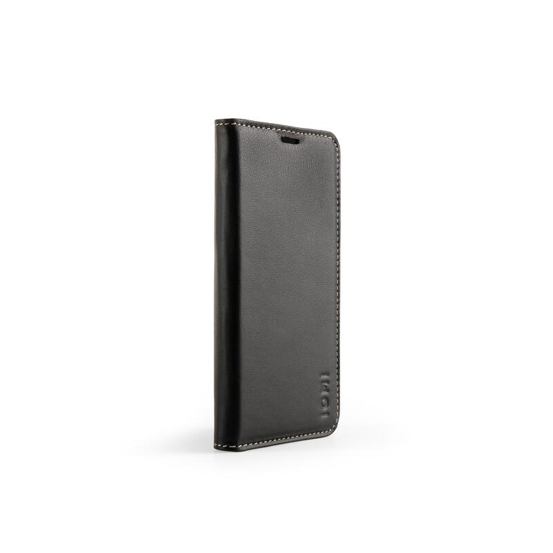 IOMI Schafleder Book Case Samsung Galaxy S10 schwarz