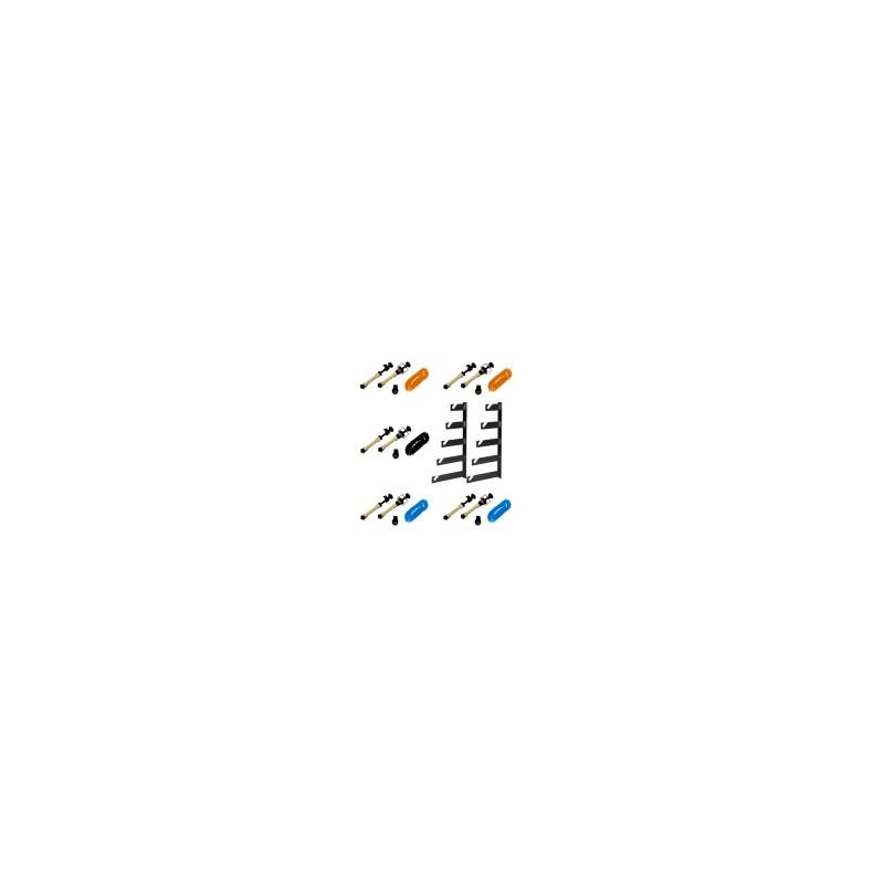 walimex 5-fach Hintergrund Wandmontageset, 5er Set