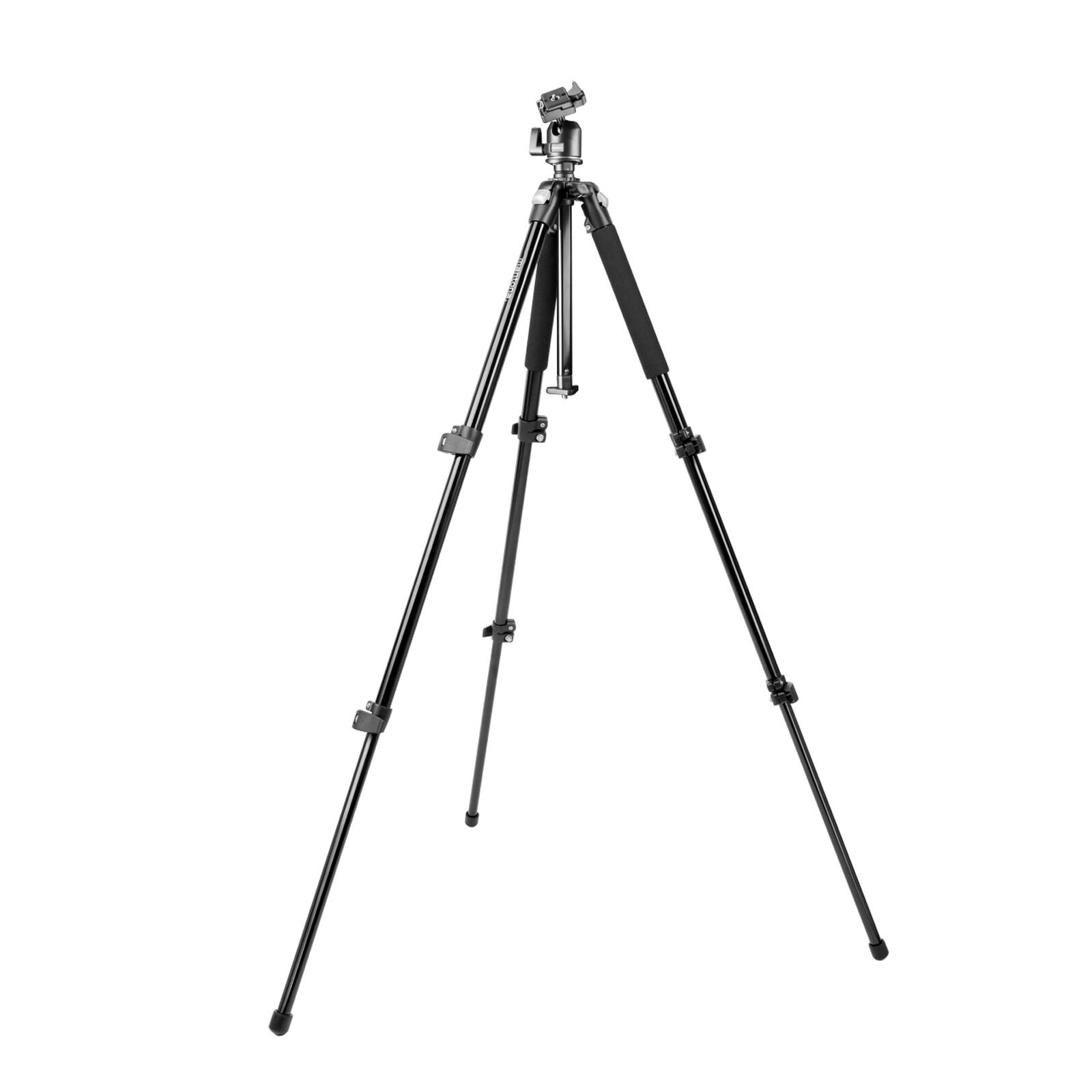 Mantona Pro Makro II Stativ mit Kugelkopf, 151cm