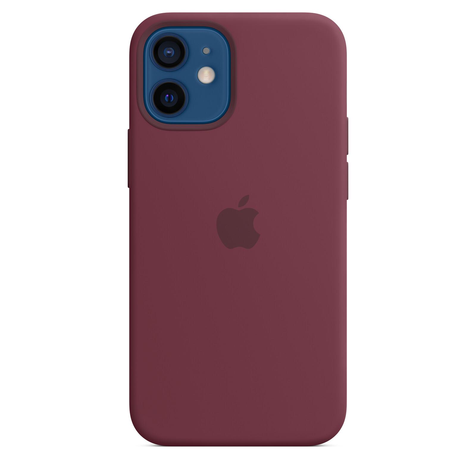 Apple iPhone 12 mini Silikon Case mit MagSafe pflaume
