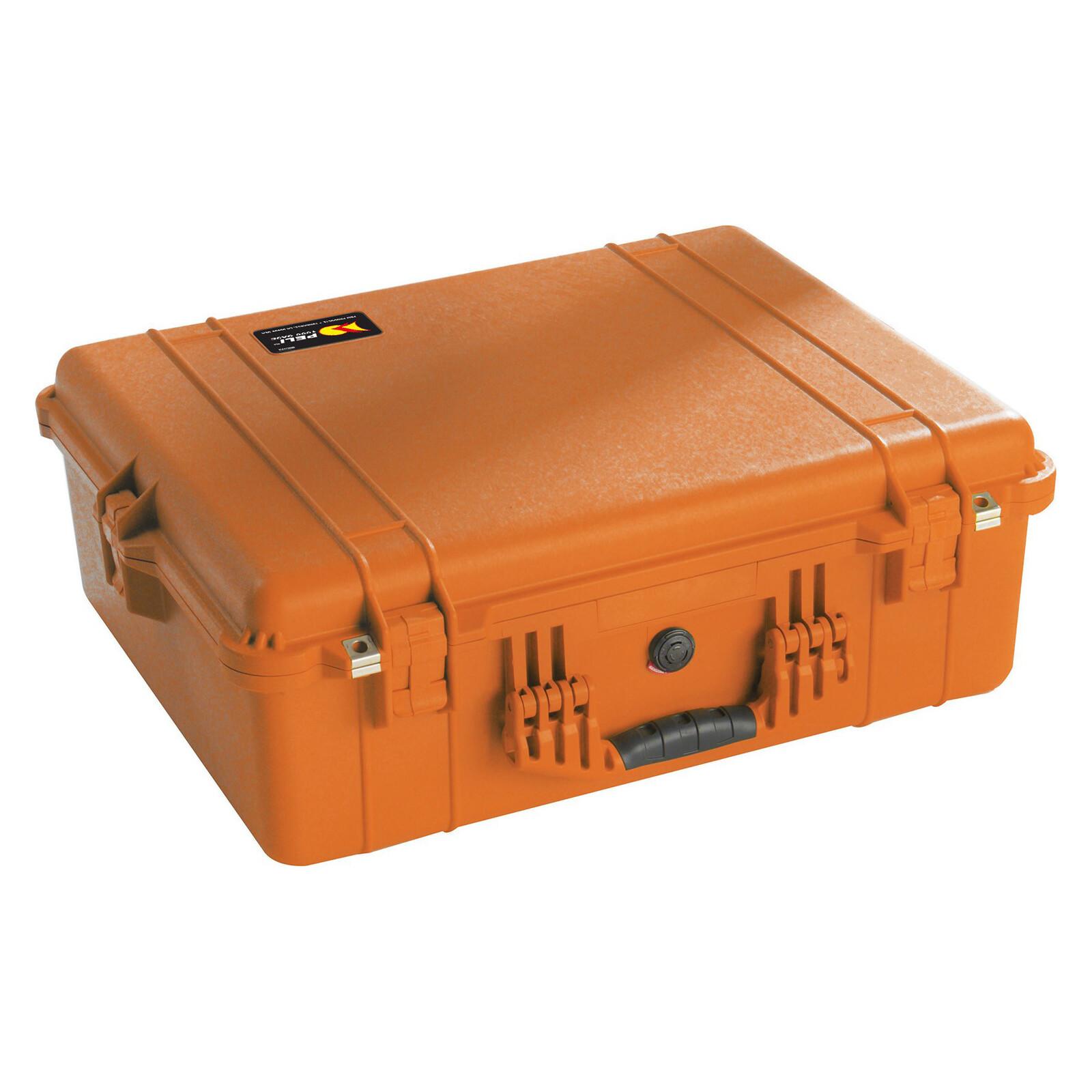 PELI 1600 Case mit Schaumstoff orange