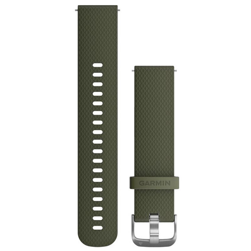 Garmin Uhrenarmband Vivomove 20mm Silikon S/M Moosgrün