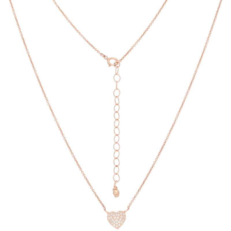 Halskette Full Heart rosevergoldet echt Silber