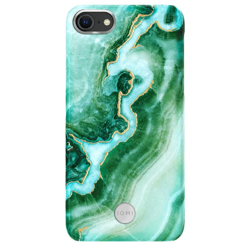 IOMI Back Design Apple iPhone 7/8/SE 2020 marble green