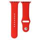 Mika Uhrenarmband Apple 42/44mm Silikon korallenrot