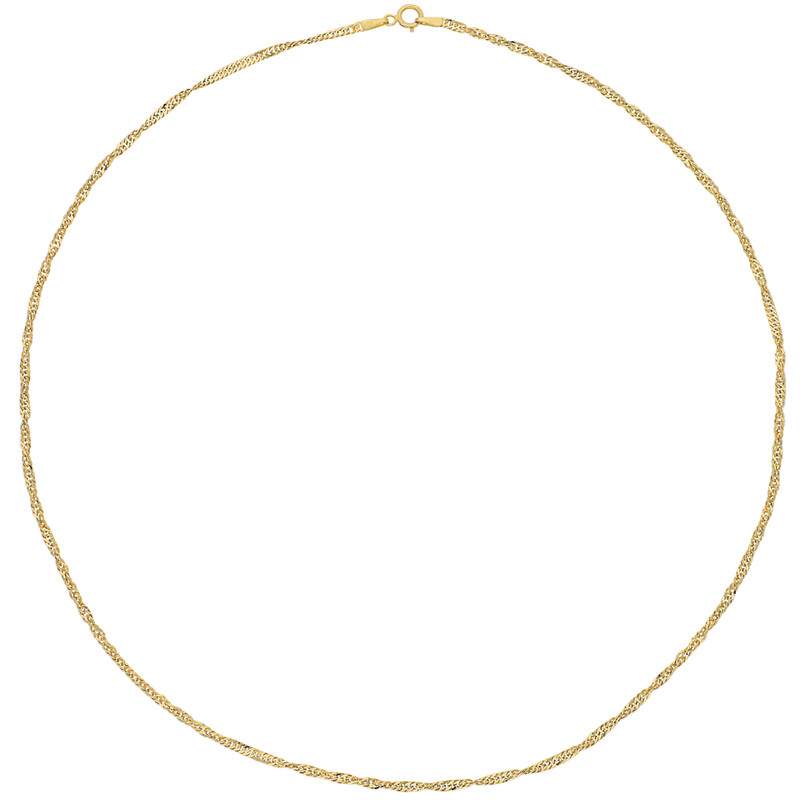 Goldsingapurkette 43cm