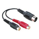 Hama Audio Adapter 2 Cinch Kupplungen 5-pol.-DIN Stecker
