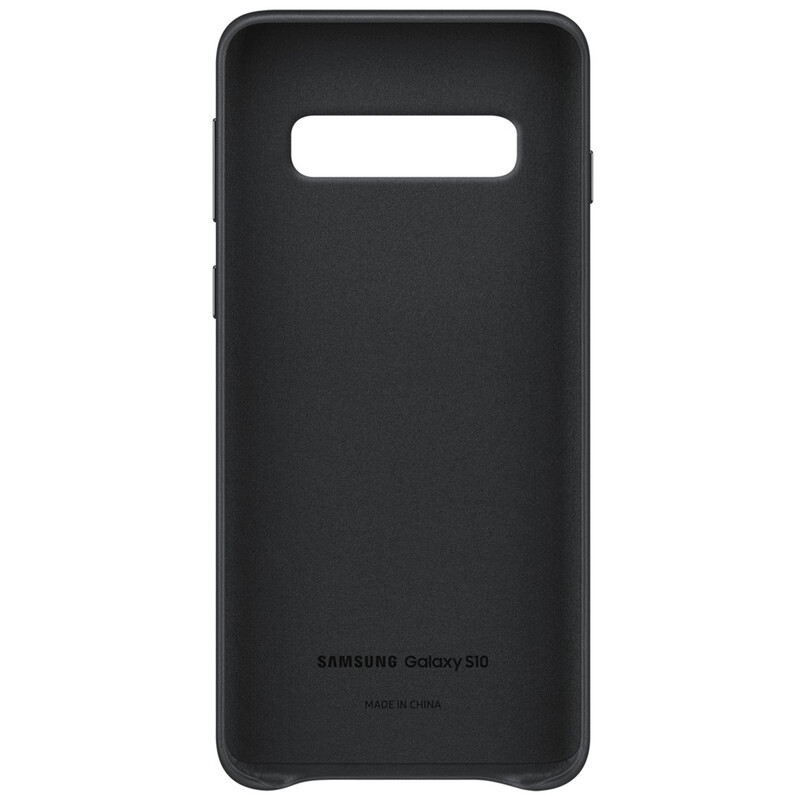 Samsung Back Cover Leather Galaxy S10 schwarz