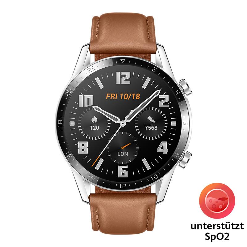 Huawei Watch GT 2 46mm Lederarmband braun