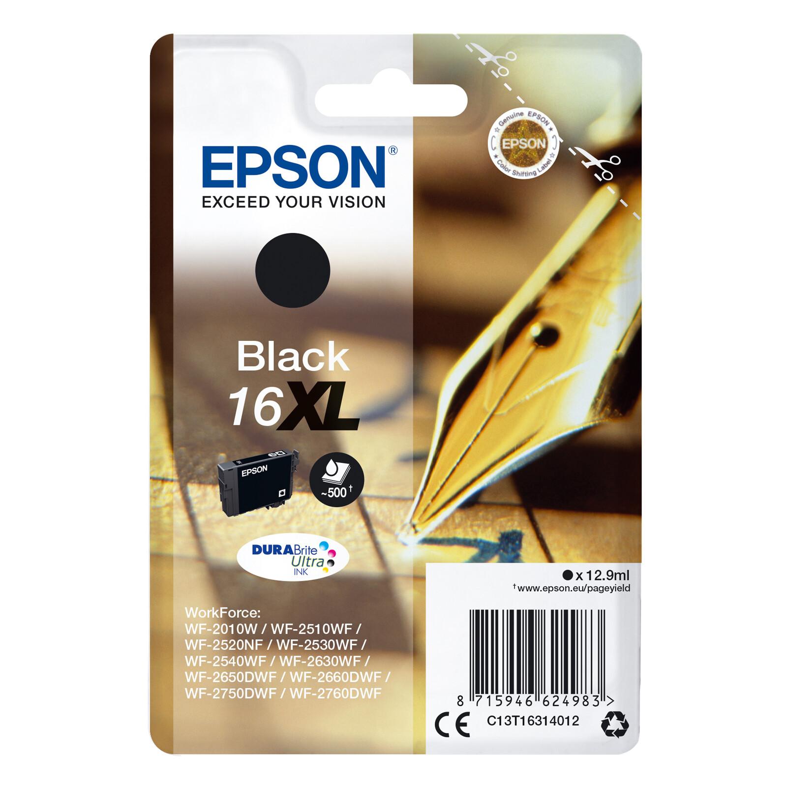 Epson 16XL T1631 Tinte  Black 12,9ml