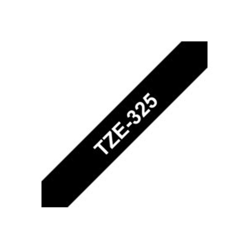 Brother TZE325 Band schwarz/weiß 9mm