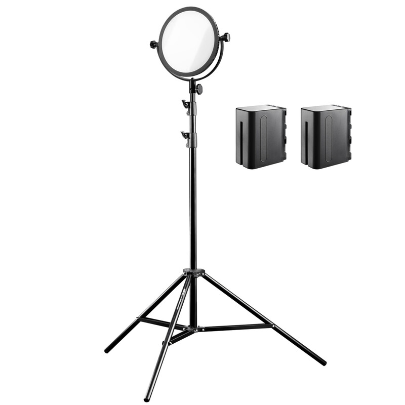 walimex pro Soft LED 300 Round Bi Color Set2