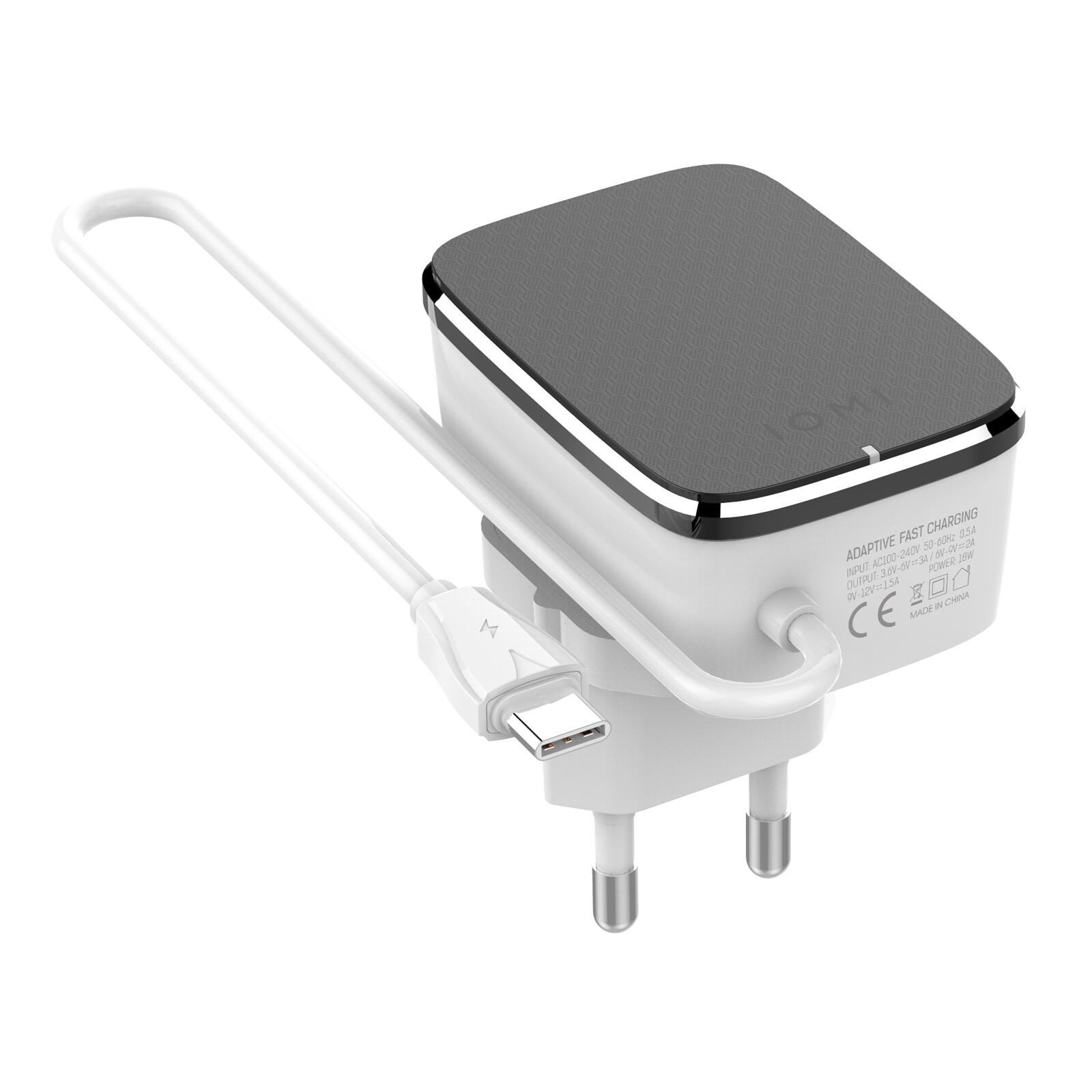 IOMI Wallcharger Typ-C QC 3.0 schwarz
