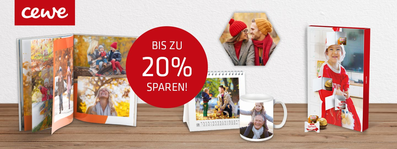 CEWE Fotobuch, Fotokalender, Foto-Adventkalender, Fototasse, Hexxas 6-eckige Fotokacheln mit 20%-Aktionsinfo