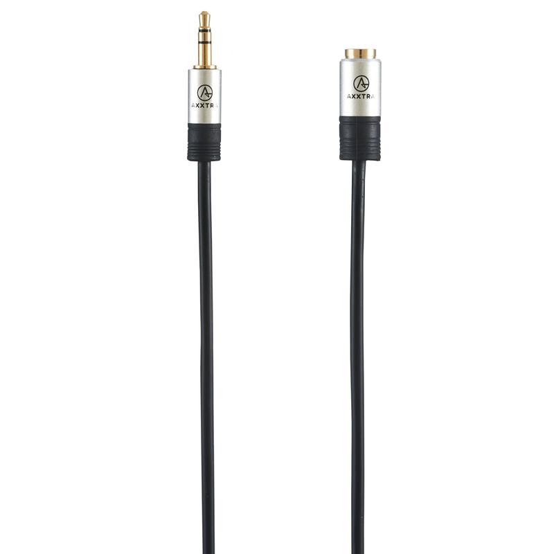 Axxtra Stereo Kabel 3.5mm Stecker auf 3.5mm Buchse