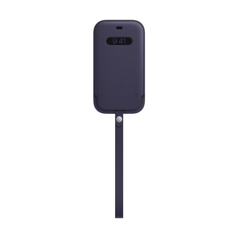 Apple iPhone 12/12 Pro Lederhülle mit MagSafe dunkelvoilett