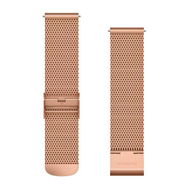 Garmin Uhrenarmband Vivomove 20mm Metall Rosegold/Milanese