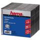 Hama 51167 CD-Leerhülle Slim 25er-Pack Transparent/Black