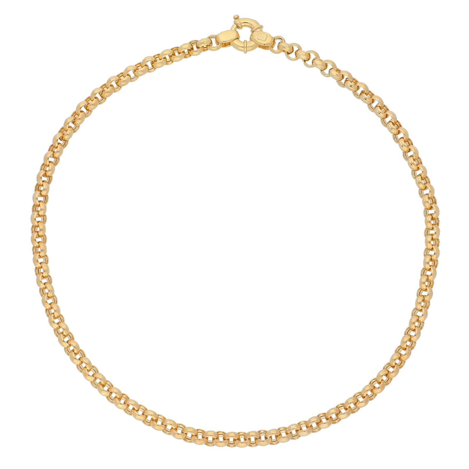 Erbskette 45cm vergoldet