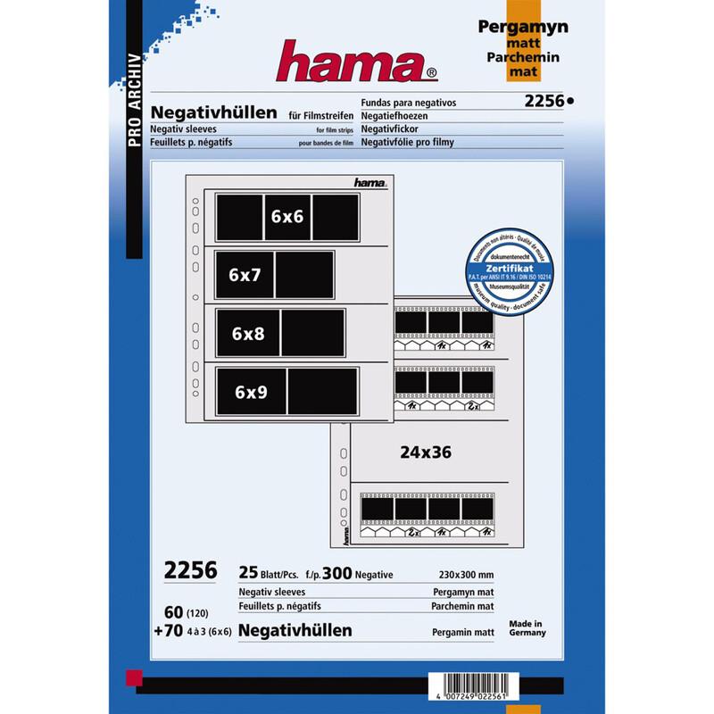 Hama 2256 Negativ Hüllen Pergamin 6x6 25 Stk.