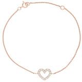 Armband Heart rosevergoldet echt Silber