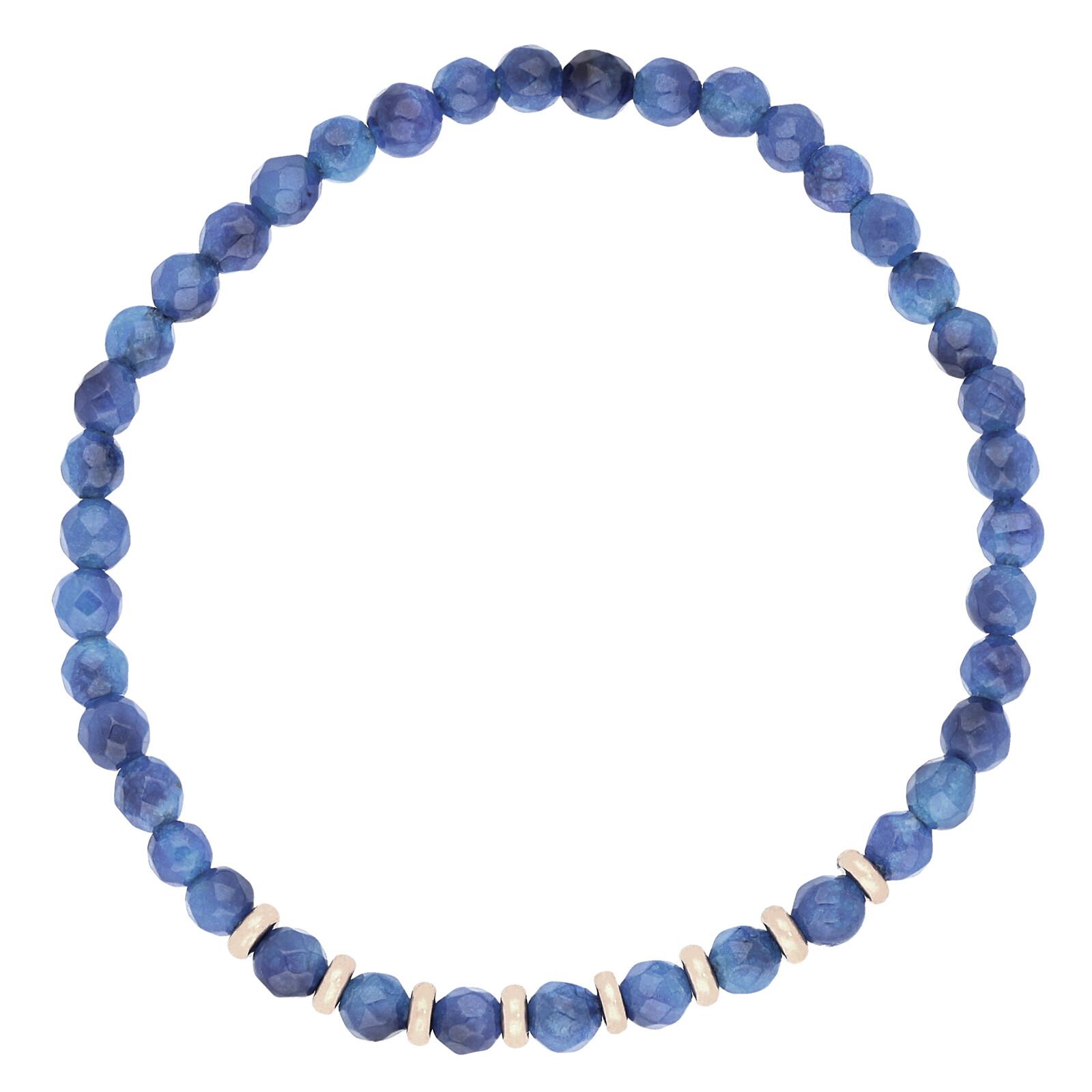 Armband Jade blau rosevergoldet echt Silber
