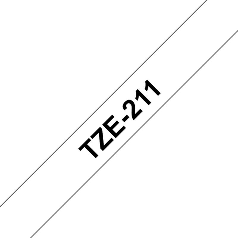 Brother TZE-211 Band weiß/schwarz 6mm