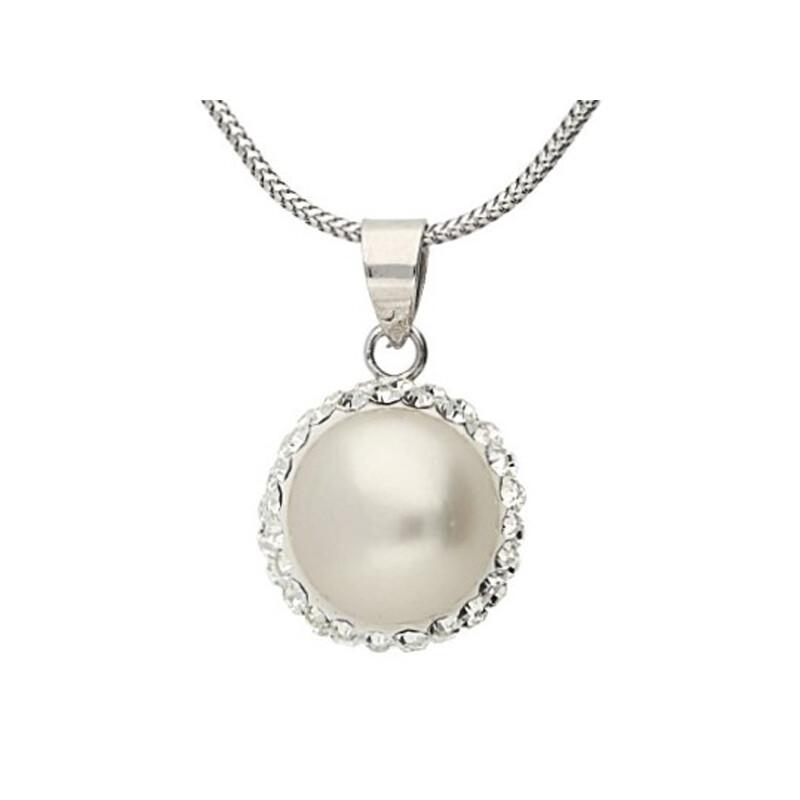 Perlenkette Kristalle