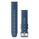 Garmin Quickfit Band 22mm Silikon königsblau Stahl
