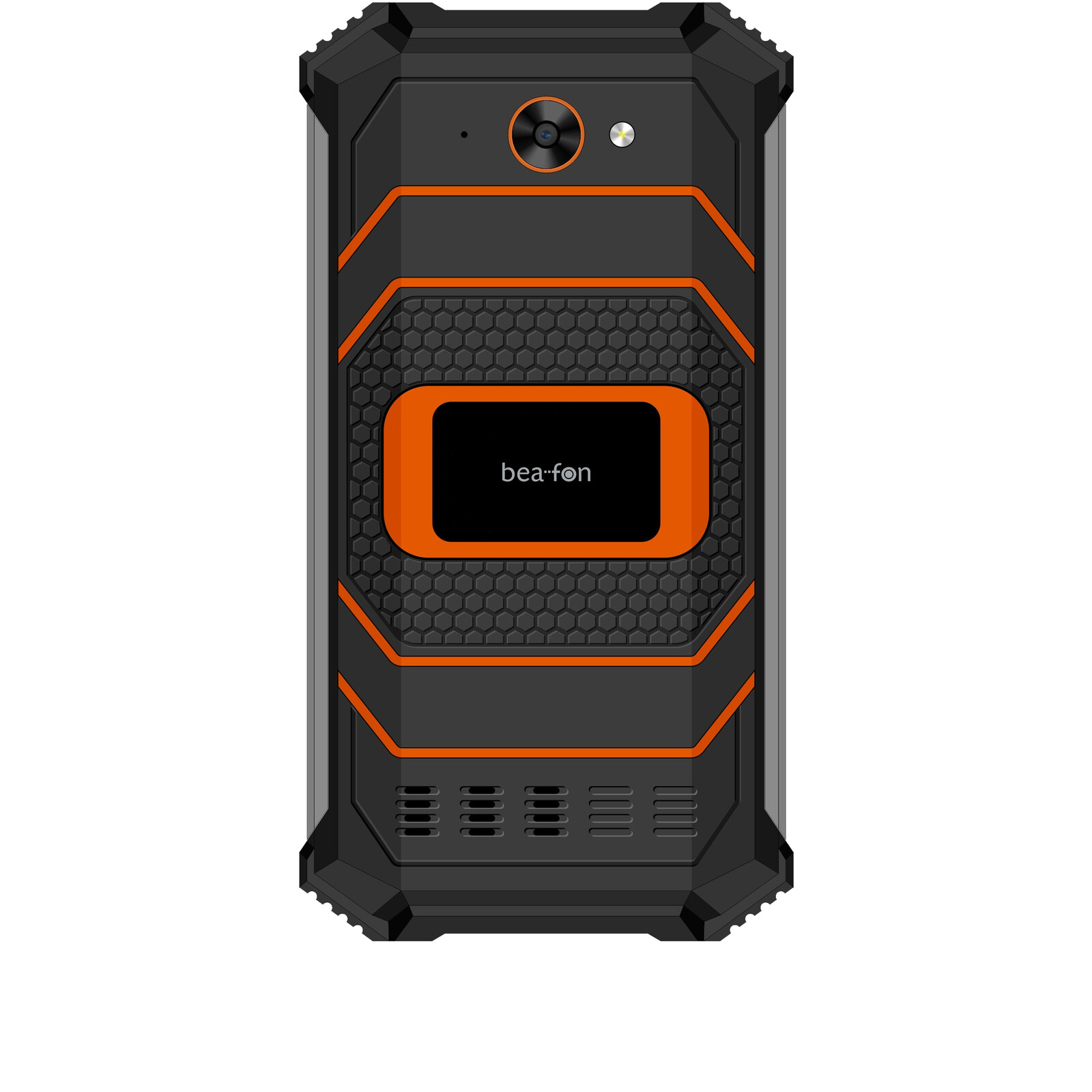 Beafon X5 schwarz/orange Outdoor-Smartphone