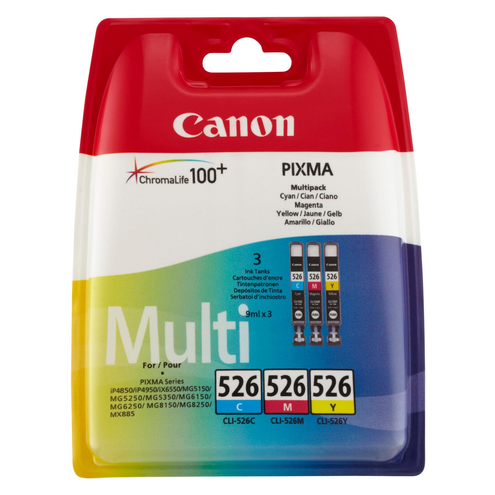 Canon CLI-526CMY Tinte color