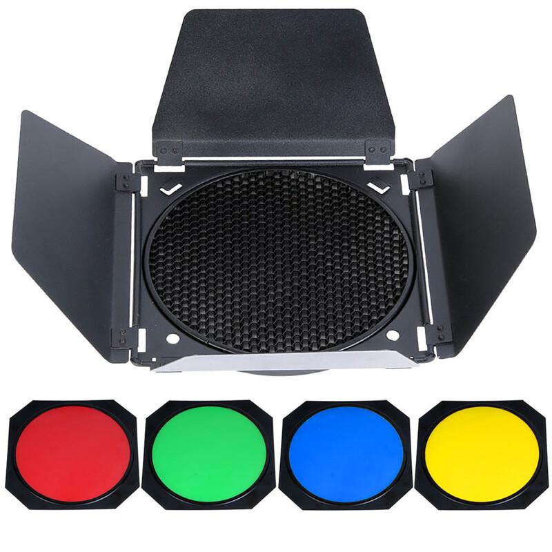 GODOX BD04 Barndoor Kit Color Filter & Honey Comb 200cm