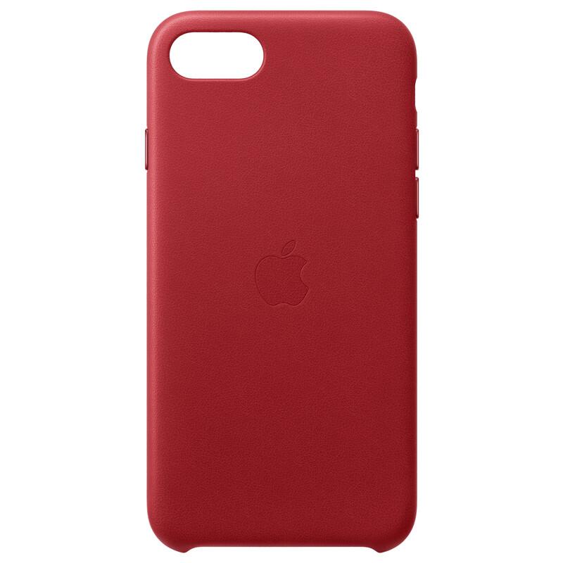 Apple Original Back Cover Leder iPhone SE 2020 rot