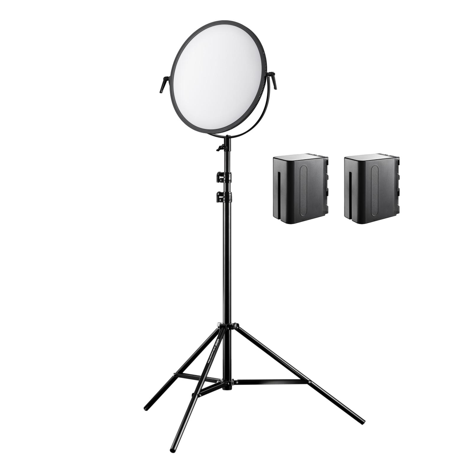 walimex pro Soft LED 700 Round Bi Color Set2