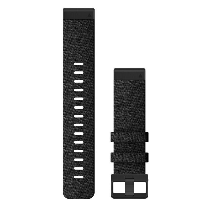 Garmin Quickfit Band 22mm Nylon schwarz meliert schwarz